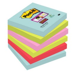 6 blocs notas Post-it mIAMI 76x76 mm. Super Sticky 654-6SS-mia