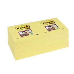 BL90 notas Post-it Super Sticky amarillas 76 x 76 mm. 65412SSCY