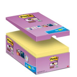16 BL90 notas Post-it Super Sticky amarillas 76 x 127mm. 655P16SSCY