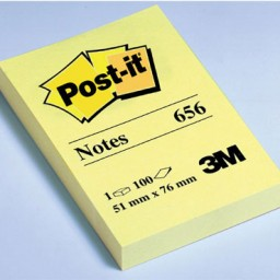 BL100 notas Post-it amarillas 76 x 51 mm. 656
