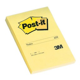 BL100 notas Post-it amarillas 102 x 152 mm. 659