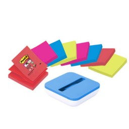8BL100 Z-Notes neón76 x 76 mm. + dispensador Post-it VAL-SS8P-R330