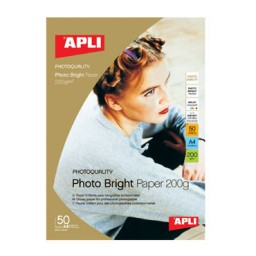 Papel PHOTO BRIGHT 200 g/m² 50HJ Din A-3 Apli 04457