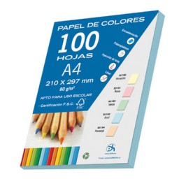 100 hojas papel azul 80 g/m² Din A-4 Dohe 30193
