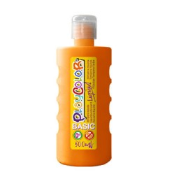 Bote 500 ml. témpera líquida naranja Playcolor 19361