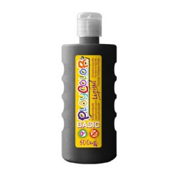 Bote 500 ml. témpera líquida negra Playcolor 19461