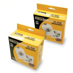 Pack 50 sobres para CD Fellowes 90690