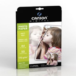 100HJ papel Glossy Everyday 180 g/m² Din A-4 Canson 200004318