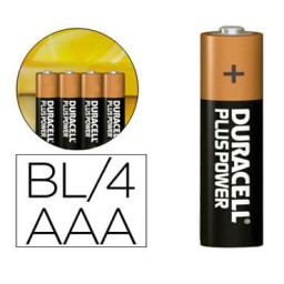 BL4 pilas alcalinas Duracell Plus Power LR03/AAA 49963
