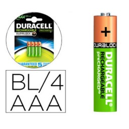 BL4 pilas alcalinas recargables Duracell Stay Charged LR03/AAA 59563