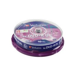10 DVD+R DL 8,5GB 8X Verbatim 43666