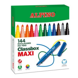 144 rotuladores de color Maxi Alpino AR000109