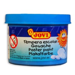 5 botes témpera diluible azul cyan 35 ml. Jovi 50321